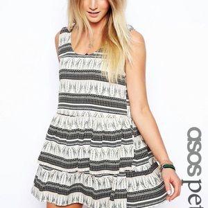 ASOS Petite Tiered Giraffe Dress